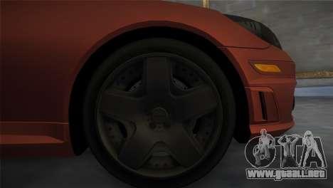 Mercedes-Benz SLK55 AMG Tuned para GTA Vice City vista lateral izquierdo