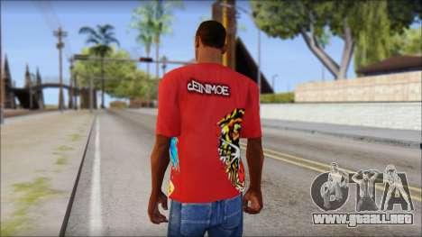 Ed Hardy Designer T-Shirt para GTA San Andreas segunda pantalla