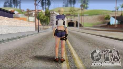 Sherry Birkin Mercenaries from Resident Evil 6 para GTA San Andreas segunda pantalla