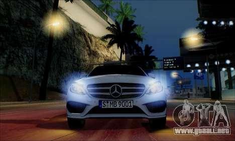 Mercedes-Benz C250 2014 V1.0 EU Plate para la vista superior GTA San Andreas