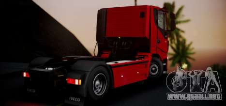 Iveco Stralis HI-ROAD para GTA San Andreas left