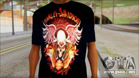 Harley Davidson Black T-Shirt para GTA San Andreas tercera pantalla