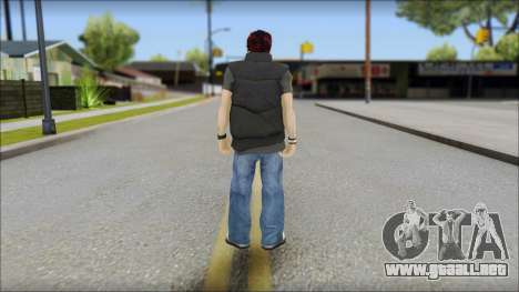 Paul from Good Charlotte para GTA San Andreas segunda pantalla