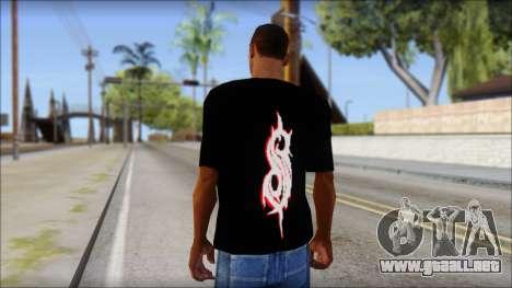 SlipKnoT T-Shirt v5 para GTA San Andreas segunda pantalla