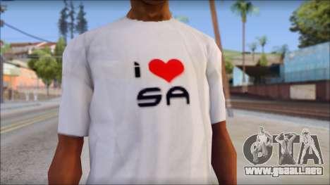 I Love SA T-Shirt para GTA San Andreas tercera pantalla
