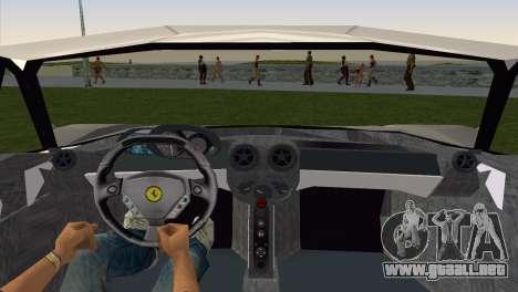 Ferrari Enzo 2003 para GTA Vice City vista lateral izquierdo