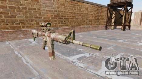 Automático carabina MA Muñeca Camo para GTA 4