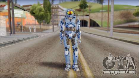 Masterchief Blue from Halo para GTA San Andreas segunda pantalla