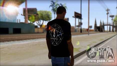 SlipKnoT T-Shirt v4 para GTA San Andreas segunda pantalla