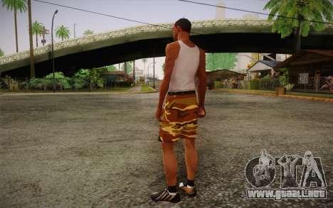 Camo Shorts Pants para GTA San Andreas segunda pantalla