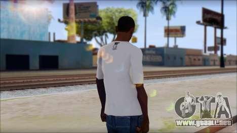 MTV T-Shirt para GTA San Andreas segunda pantalla