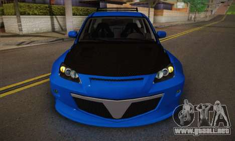 Mazda Speed 3 Tuning para visión interna GTA San Andreas