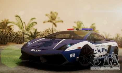 Lamborghini Gallardo LP570-4 2011 Police para GTA San Andreas