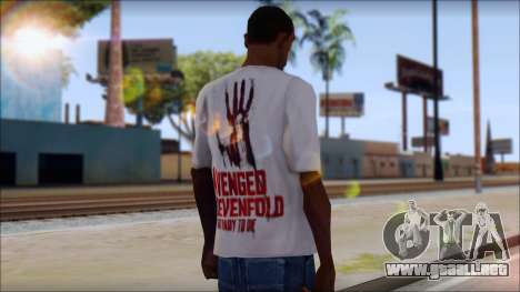 A7X Not Ready To Die Fan T-Shirt para GTA San Andreas segunda pantalla