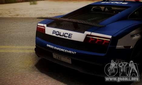 Lamborghini Gallardo LP570-4 2011 Police para vista lateral GTA San Andreas