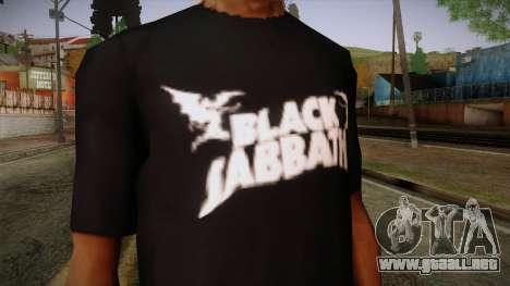 Black Sabbath T-Shirt para GTA San Andreas tercera pantalla