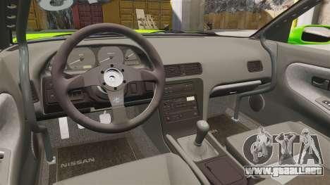 Nissan Silvia S13 para GTA 4 vista interior