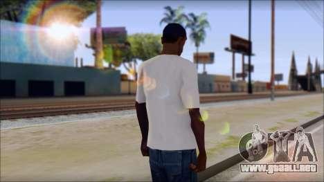 The Clash T-Shirt para GTA San Andreas segunda pantalla