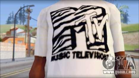 MTV T-Shirt para GTA San Andreas tercera pantalla