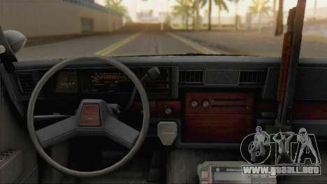 Chevrolet Caprice 1987 para GTA San Andreas vista posterior izquierda