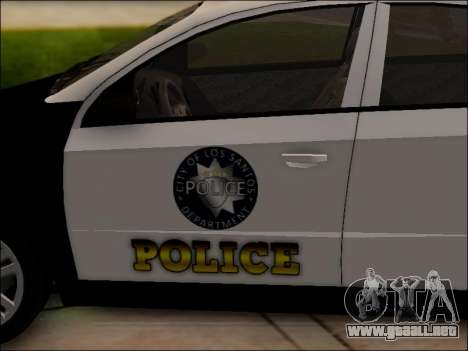 Chevrolet Aveo Police para vista inferior GTA San Andreas