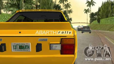 Fiat 131 Abarth Rally 1976 para GTA Vice City visión correcta
