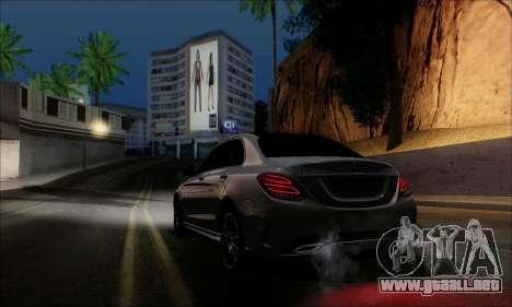 Mercedes-Benz C250 2014 V1.0 EU Plate para GTA San Andreas left
