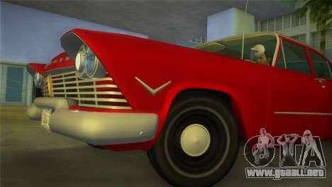 Plymouth Savoy Club Sedan 1957 para GTA Vice City visión correcta