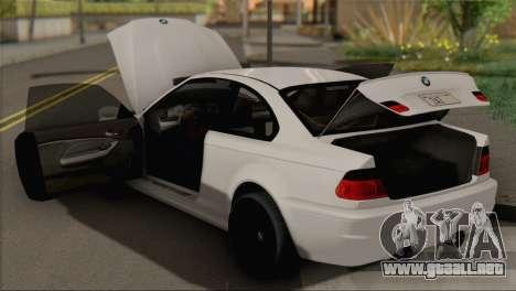 BMW M3 E46 Black Edition para la visión correcta GTA San Andreas