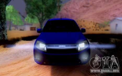 Lada Granta para GTA San Andreas vista posterior izquierda