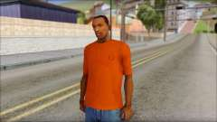 Fred Perry T-Shirt Orange para GTA San Andreas