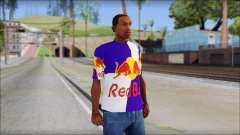 Red Bull T-Shirt para GTA San Andreas