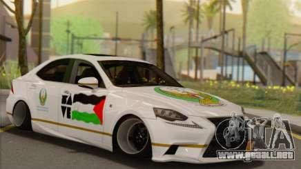 Lexus IS350 FSport 2014 Hellaflush para GTA San Andreas