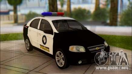 Chevrolet Aveo Police para GTA San Andreas