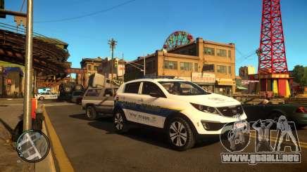 Kia Sportage Israel Police car (Mishtara) para GTA 4