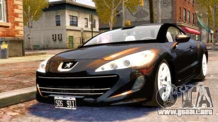 Peugeot RCZ para GTA 4