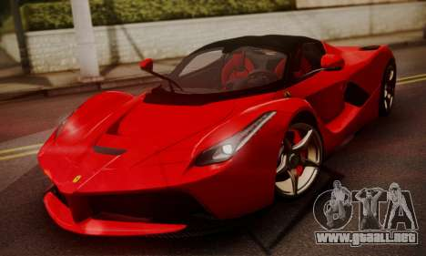 Ferrari LaFerrari F70 2014 para la visión correcta GTA San Andreas