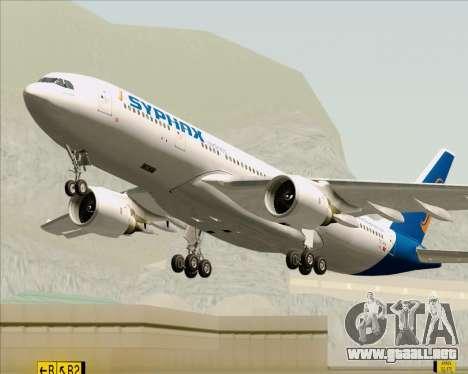 Airbus A330-200 Syphax Airlines para la vista superior GTA San Andreas