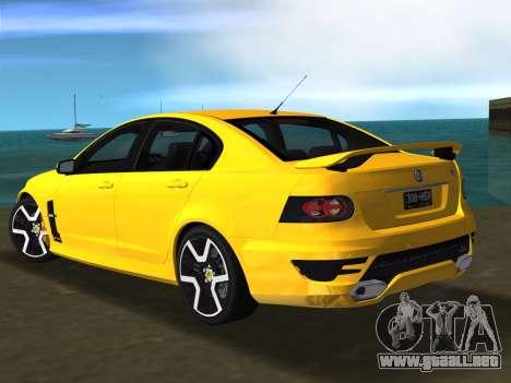 Holden HSV GTS 2011 para GTA Vice City visión correcta