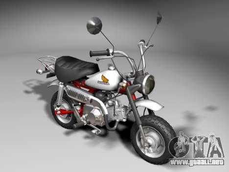 Honda Z50J Monkey para GTA San Andreas left