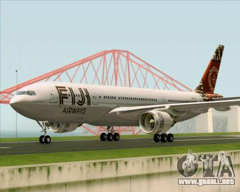 Airbus A330-200 Fiji Airways para GTA San Andreas left