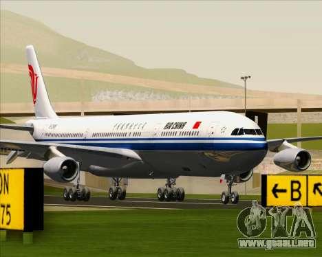 Airbus A340-313 Air China para GTA San Andreas vista posterior izquierda