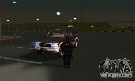 GMC Yukon XL ФСБ para visión interna GTA San Andreas