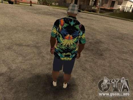 Camisa hawaiana como max Payne para GTA San Andreas quinta pantalla