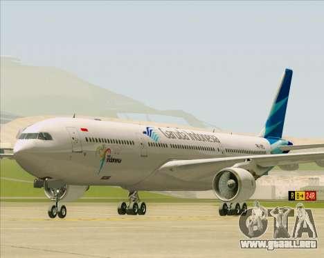 Airbus A330-300 Garuda Indonesia para GTA San Andreas left