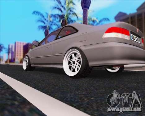 Honda Civic EM1 V2 para GTA San Andreas vista posterior izquierda