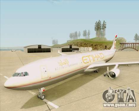 Airbus A340-313 Etihad Airways para la vista superior GTA San Andreas