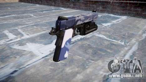Pistola De Kimber 1911 Azul Tigre para GTA 4