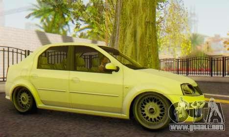 Dacia Logan White para GTA San Andreas left