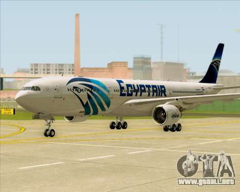 Airbus A330-300 EgyptAir para GTA San Andreas left
